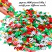 Aneco 100g/4800 Pieces Christmas Confetti Pentagram, Snowflake, Santa, Pine, Merry Christmas Alphabet, Elk Table Confetti Bright Christmas Decoration Set (Christmas Confetti)