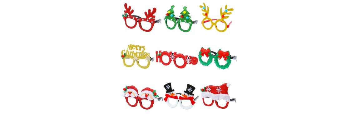 Christmas Glitter Party Glasses
